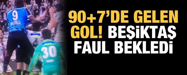 Beşiktaş 3. golde faul bekledi! Tartışmalı pozisyon...