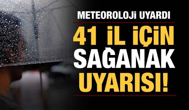 Marmara, Karadeniz, İç Anadolu ve Akdeniz'in bazı kesimleri için sağanak uyarısı