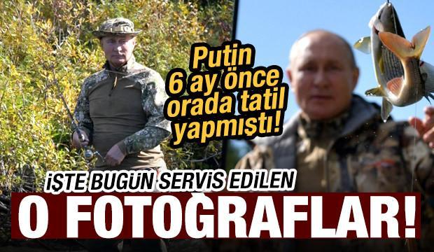 Rusya Devlet Başkanı Vladimir Putin'in Sibirya tatilinden fotoğraflar