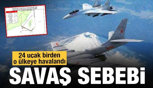 Savaş sebebi! 24 jet birden o ülkeye havalandı