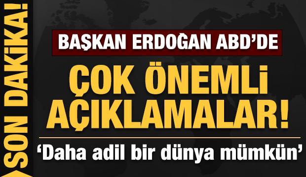 Son dakika: Başkan Erdoğan'dan ABD'de önemli açıklamalar!