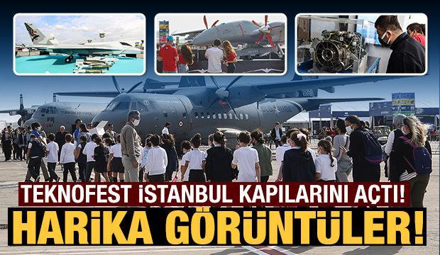 Teknofest İstanbul yoğun katılımla başladı! İşte ilk kareler...