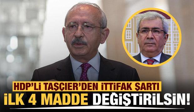 """HDP'li Taşçıer'den Kılıçdaroğlu'na """"ittifak"""" şartı!"""