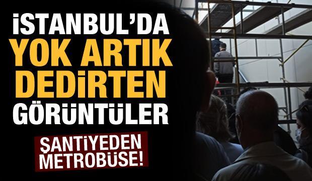 İstanbulluların metrobüs çilesi bitmek bilmiyor