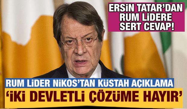 Rum lider Anastasiadis, Kıbrıs'ta iki devletli çözüme ''hayır'' dedi