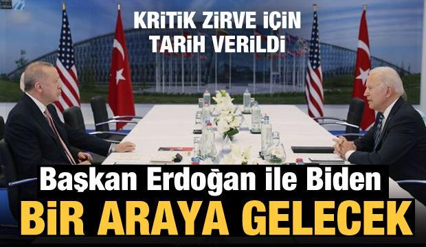 Son Dakika: Cumhurbaşkanı Erdoğan, Biden ile görüşecek