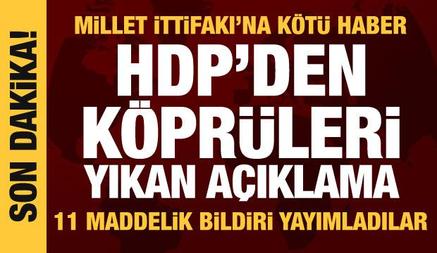 Son dakika haberi: HDP'den ittifak açıklaması