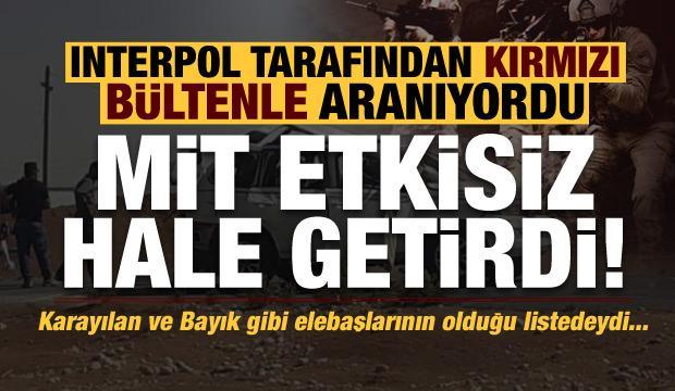 Son dakika: Interpol tarafından aranan PKK'lıyı MİT etkisiz hale getirdi!