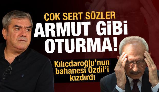 Yılmaz Özdil'den Kılıçdaroğlu'na sert gönderme: Armut gibi oturma!
