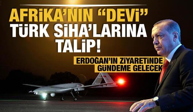 """Afrika'nın """"devi"""" Türk SİHA'larına talip!"""