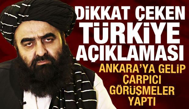 Ankara ziyareti sonrası Taliban'dan flaş Türkiye açıklaması