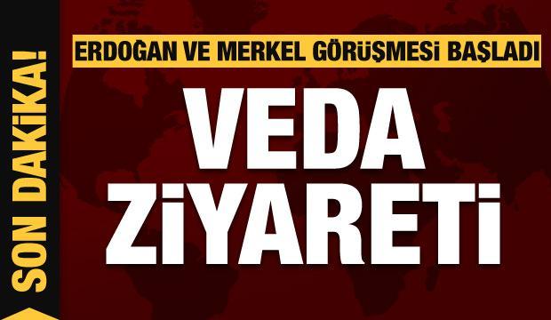 Son dakika: Veda ziyareti! Erdoğan ve Merkel'den kritik görüşme