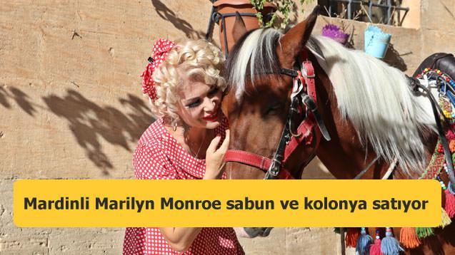 Mardinli Marilyn Monroe sabun ve kolonya satıyor