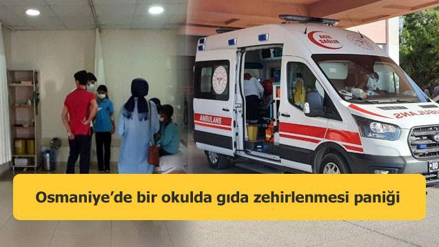 Osmaniye'de bir okulda gıda zehirlenmesi paniği