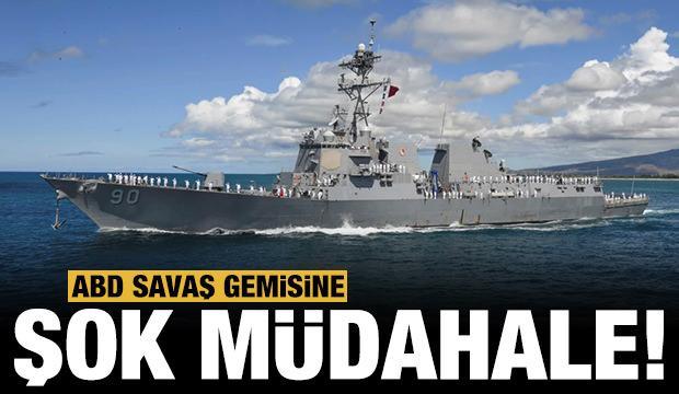 Rusya ve Çin donanmasının ortasında kaldı: ABD savaş gemisine şok müdahale!