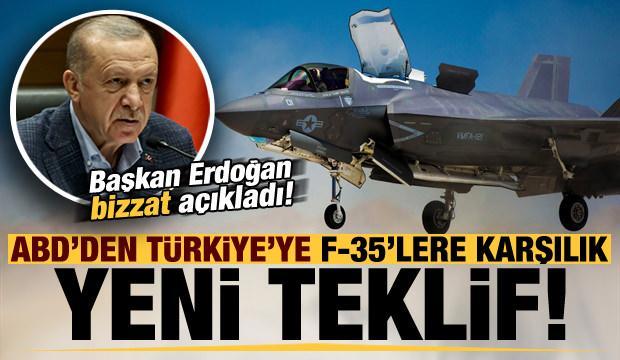 Son dakika: Başkan Erdoğan bizzat duyurdu! ABD'nin F-35'e karşılık yeni teklifi...