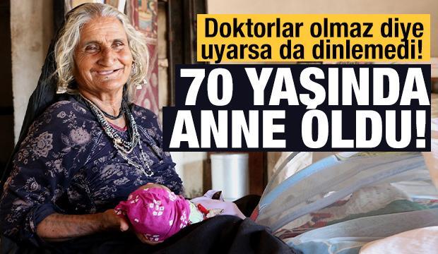 70 yaşında ilk kez anne oldu!