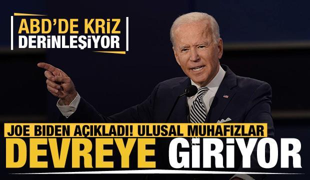 ABD'de kriz derinleşiyor! Joe Biden: Ulusal Muhafızları göreve çağırabilirim