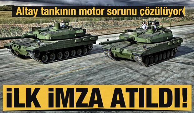 Altay tankının motoru için Güney Kore ile ilk imzalar atıldı