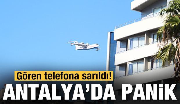 Antalya'da panik! Gören telefona sarıldı