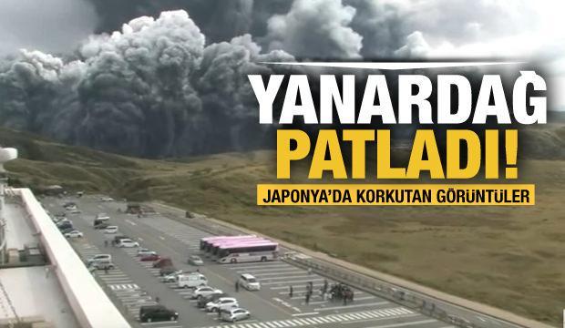 Aso Yanardağı patladı! Japonya'da korkutan görüntüler