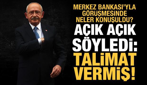 Bürokratları tehdit eden Kılıçdaroğlu, Merkez Bankası'na verdiği talimatı itiraf etti