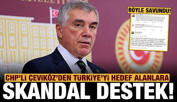 CHP'li Çeviköz'den Türkiye'yi hedef alanlara skandal savundu!