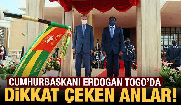 Cumhurbaşkanı Erdoğan, Togo Cumhurbaşkanı Gnassingbe tarafından böyle karşılandı
