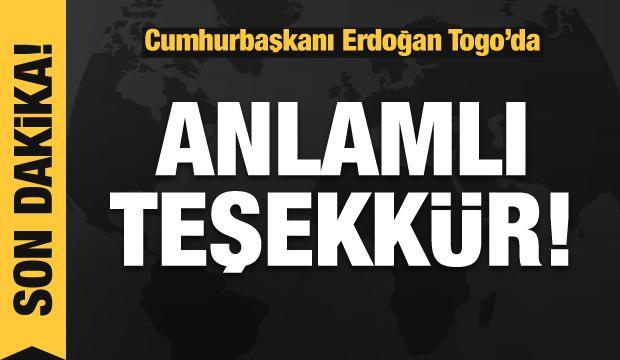 Cumhurbaşkanı Erdoğan Togo'da açıklamalar yapıyor