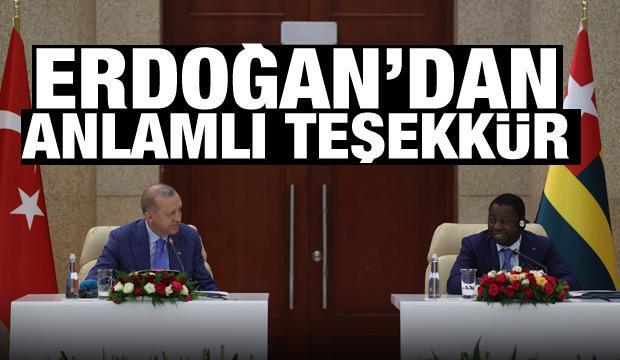 Cumhurbaşkanı Erdoğan'dan Togo'da son dakika açıklamalar