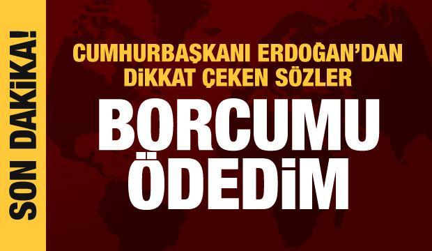 Cumhurbaşkanı Erdoğan: Togo'ya borcumu ödedim
