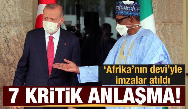 Cumhurbaşkanı Erdoğan Nijerya'da! 7 kritik alanda anlaşma imzalandı