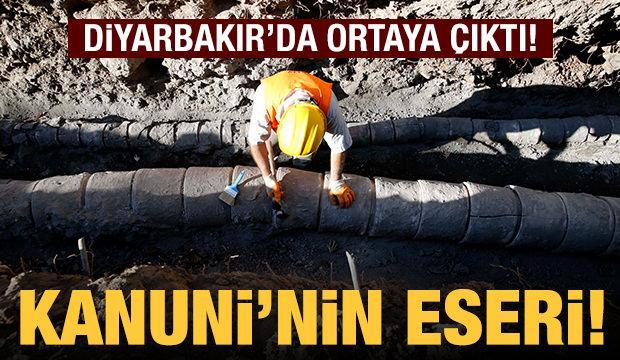 Diyarbakır'da Kanuni tarafından yaptırılan içme suyu şebekesi bulundu!