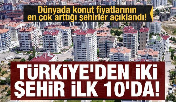 Dünyada konut fiyatlarının en çok arttığı şehirler açıklandı! Türkiye'den iki şehir ilk 10'da