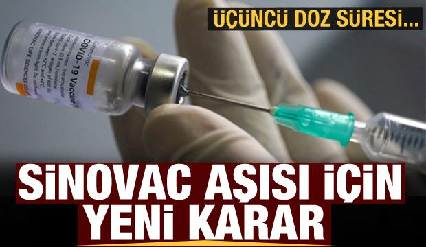 İki doz Sinovac aşısı olanlar için yeni karar
