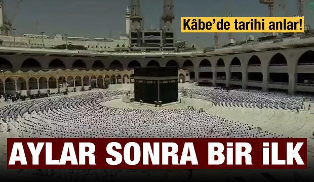 Kâbe'de sosyal mesafesiz ilk cuma namazı