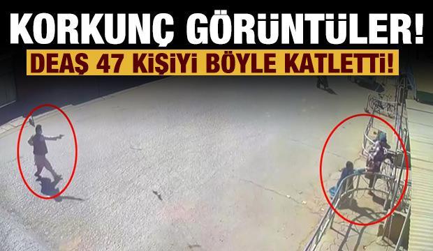 Katliamın görüntüleri ortaya çıktı: DEAŞ 47 kişiyi böyle öldürdü!