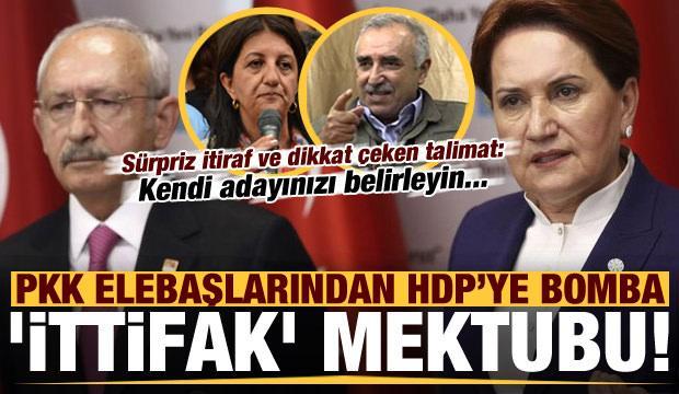 PKK'dan HDP'ye ittifak mektubu! Sürpriz itiraf ve dikkat çeken talimat: Kendi adayınızı...