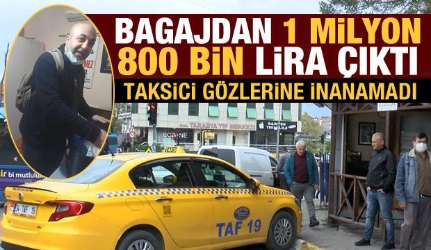 Sarıyer'de taksinin bagajında 1 milyon 800 bin lira unuttu
