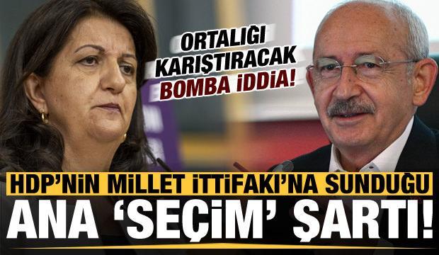 Son dakika: Bomba iddia! HDP'nin Millet İttifakı'na sunduğu ana seçim şartı...