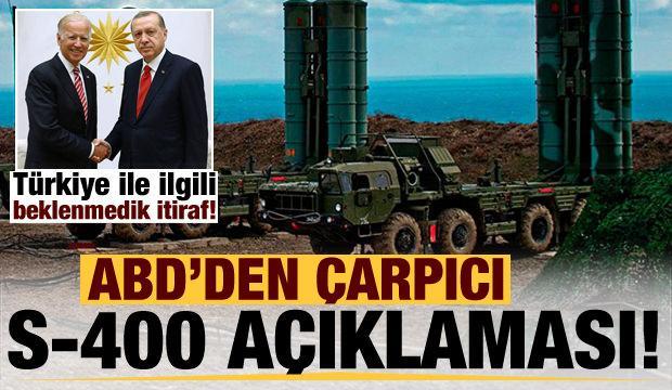 Son dakika: Çarpıcı S-400 vurgusu yapıp, Türkiye ile ilgili beklenmedik itirafta bulundu!