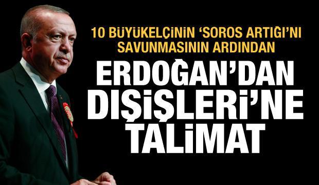 Son Dakika: Cumhurbaşkanı Erdoğan 10 büyükelçi için Dışişleri Bakanına talimat verdi!