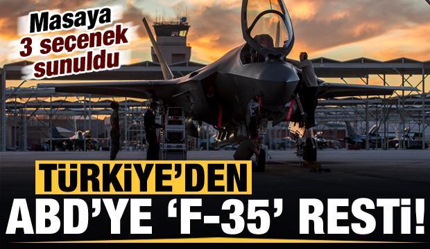 Son dakika haberi: Türkiye'den ABD'ye F-35 resti! Üç seçenek sunuldu...