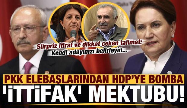 """Son dakika: PKK elebaşlarından HDP'ye """"bomba"""" ittifak mektubu! Kendi adayınız belirleyin.."""