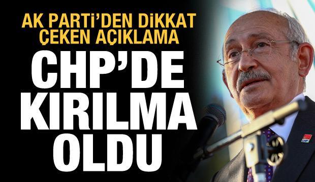 """AK Parti'den """"tezkere"""" açıklaması: CHP'de bir kırılma oldu"""