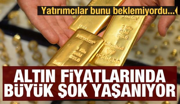 Altın fiyatlarında büyük şok yaşanıyor! Aniden düşüşe geçti
