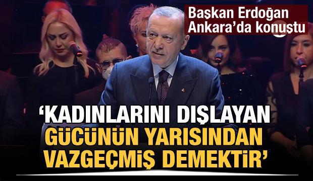 """Cumhurbaşkanı Erdoğan, """"Cumhuriyeti Kuran ve Yaşatan Kadınlar"""" programında konuştu"""