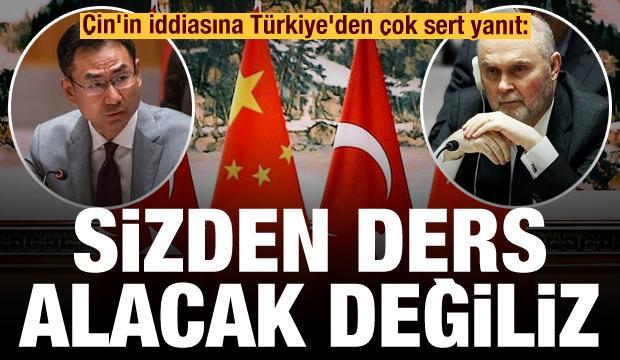 Çin'in Suriye iddiasına Türkiye'den çok sert yanıt: Sizden ders alacak değiliz