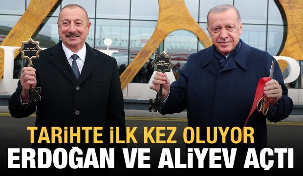 Erdoğan ve Aliyev, Fuzuli Havalimanını açtı