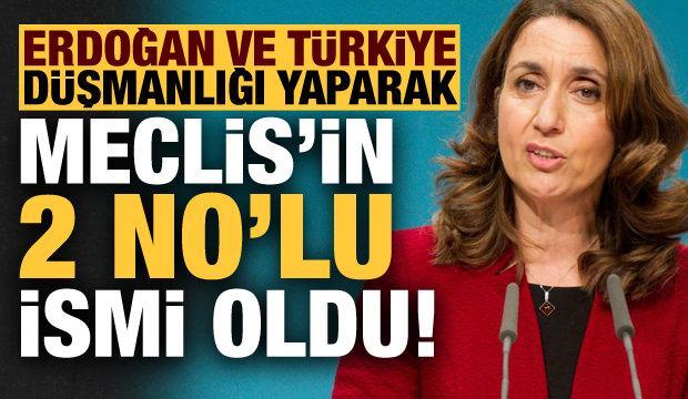 Erdoğan ve Türkiye düşmanlığı yaparak Meclis'in 2 numaralı ismi oldu!